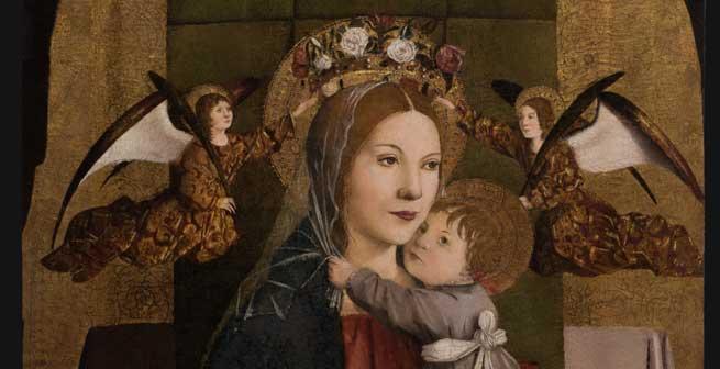 La Madonna col Bambino, trittico di Antonello da Messina (particolare)