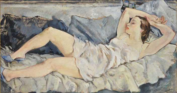 Bernardino Palazzi: Donna sdraiata, 1934 Courtesy Galleria Studiolo Milano
