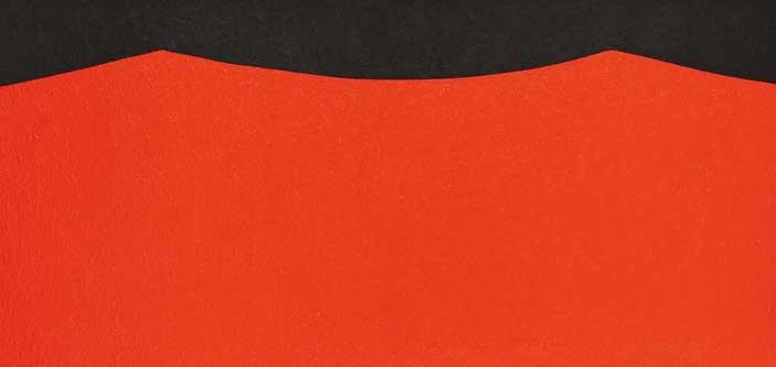 Alberto Burri: Cellotex Eor 1 [1985] Acrilico su tela cm. 117x242 Fondazione Palazzo Albizzini Collezione Burri