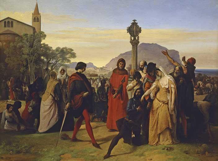 Francesco Hayez, I Vespri siciliani, 1844-1846
