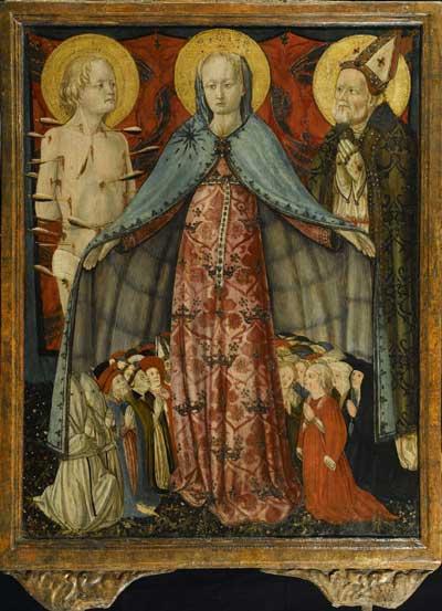 Antonio da Fabriano, Madonna della Misericordia recto