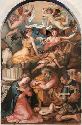 Carlo Portelli, Natività, 1555 circa, Tavola, Firenze, chiesa di San Michele a San Salvi
