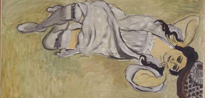 Henri Matisse, Lorette con tazza di caffè, 1917, Olio su tela, 91x148 cm, Collection Centre Pompidou, Paris Musée national d'art moderne - Centre de création industrielle Photo : © Centre Pompidou, MNAM-CCI/Philippe Migeat/Dist. RMN-GP © Succession H. Matisse by SIAE 2015