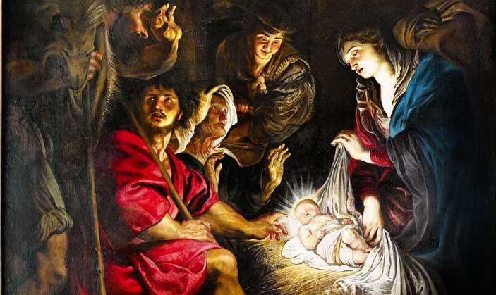 Rubens, Adorazione dei pastori, particolare