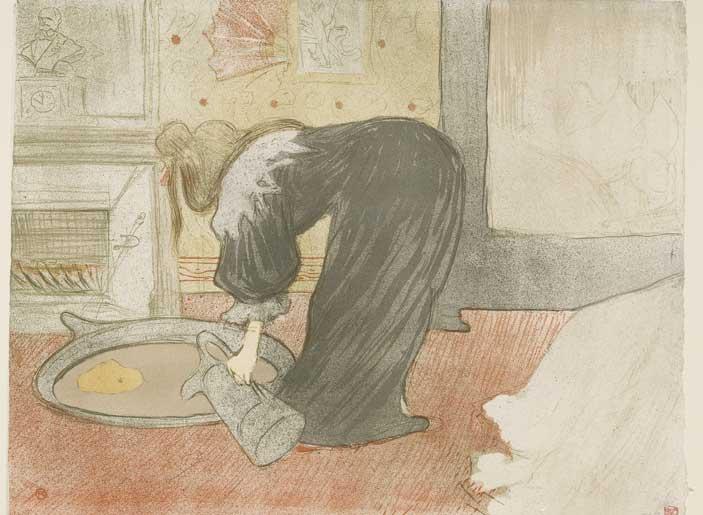 Henri de Toulouse-Lautrec, Woman at the Tub - The Tub, 1896, Lithograph (in five colours), 40,3x52,5 cm, Budapest, Galleria Nazionale (Szepmuveszeti Muzeum) ©Museum of Fine Arts, Budapest 2015