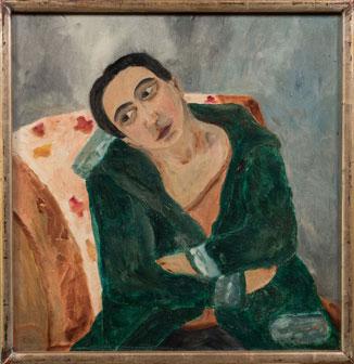 """Natalia Sergeevna Goncharova """"Donna sulla poltrona"""", 1904, Chiale Fine Art"""