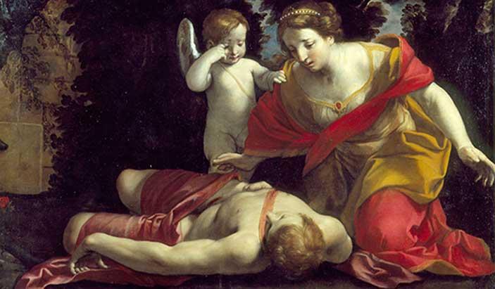 Giovan Francesco Gessi, Morte di Adone, 530x310