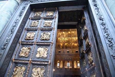 Replica Porta Nord del Battistero di Firenze, courtesy Opera del Duomo, foto Claudio Giovannini