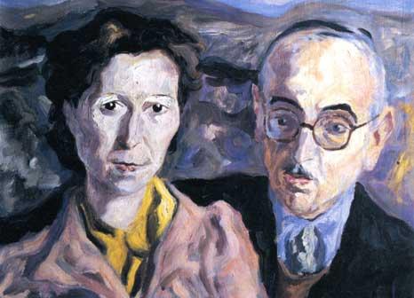 Cesare Fasola e sua moglie, Giusta Nicco, opera di Carlo Levi