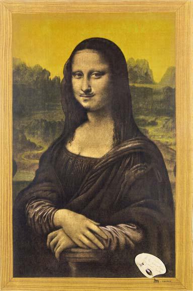 Marcel Duchamp, L'envers de la peinture, 1955, Tessuto, penna e collage, 73,5x48 cm, Collezione privata, © Succession Marcel Duchamp by SIAE 2015 per Marcel Duchamp