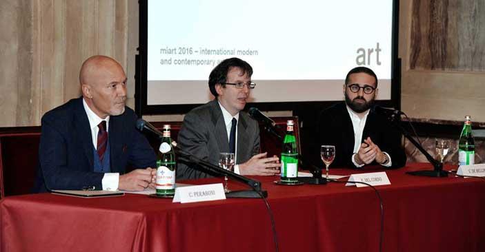 Presentazione MiArt 2016 - Corrado Peraboni, Filippo Del Corno, Vincenzo de Bellis