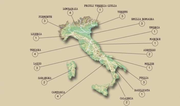 Beni culturali, riforma - La mappa delle nuove soprintendenze uniche