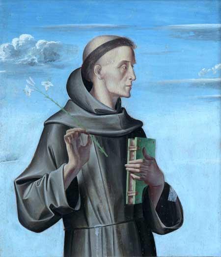 Alvise Vivarini, Sant'Antonio da Padova, 1480, Venezia, Fondazione Musei Civici, Museo Correr