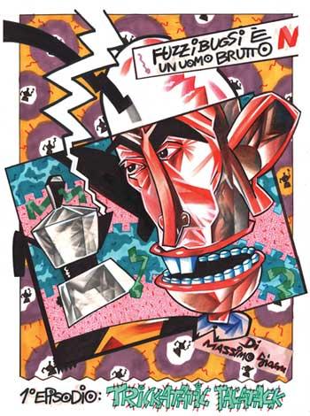 Massimo Giacon, Fuzzibugsi, 1984, ©Massimo Giacon, mostra fumetti Milano