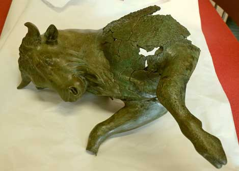 Toro cozzante del Museo Archeologico Nazionale della Sibaritide