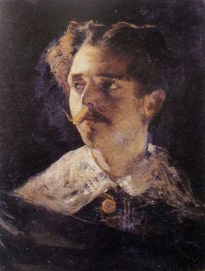 Mose' Bianchi, Il Conte Egidio, 1867 ca., olio su tela, cm 47x35,2