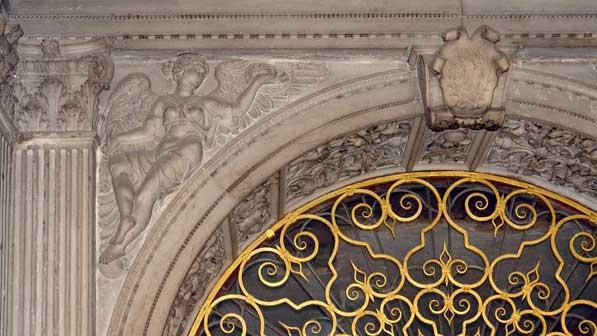 Particolare elemento lapideo, Portale sommitale, Scala d'Oro, Palazzo Ducale, Venezia