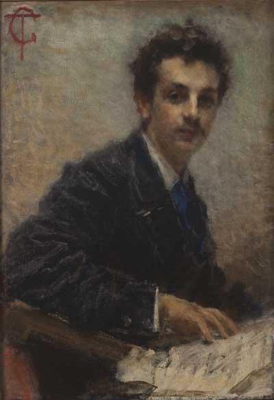 Tranquillo Cremona, Ritratto di Benedetto Junck, 1874 ca, Olio su tela, 83 x 58 cm, GAM, Galleria Civica d'Arte Moderna e Contemporanea, Torino