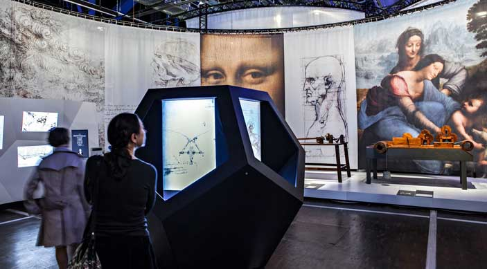 "Allestimento della mostra ""Leonardo da Vinci: the mechanics of genius"" ©EPPDCSI – Ph Levy"