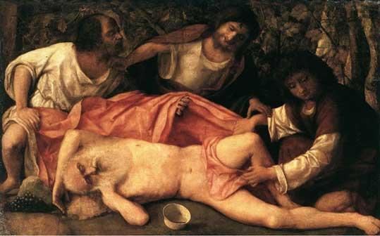 Giovanni Bellini - L'Ebbrezza di Noè