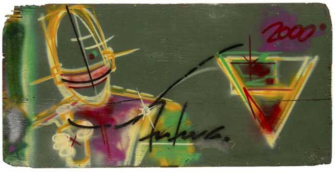 Futura 2000, Untitled, 1981, Acrilico su tavola, Museum of the City of New York, Gift of Martin Wong - Mostra Street Art Bologna