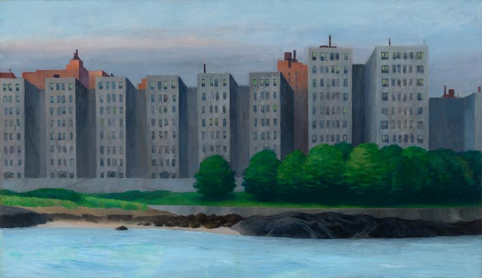 Edward Hopper (1882 1967), Apartment Houses, East River, c. 1930, Oil on canvas, 89,1x152,7 cm, Whitney Museum of American Art, New York; Josephine N. Hopper Bequest © Heirs of Josephine N. Hopper, Licensed by Whitney Museum of American Art