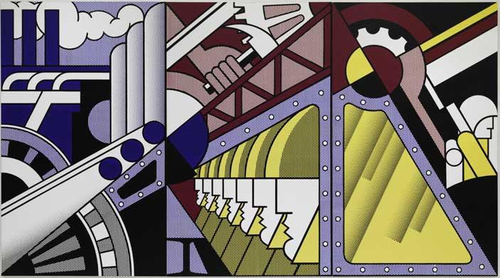 Roy Lichtenstein (New York 1923-1997) Preparativi, 1968, olio e acrilico Magna su tre tele, cm 304,8 x 548,6. New York, Solomon R. Guggenheim Museum, 69.1885. Foto di Kristopher McKay © Estate of Roy Lichtenstein New York, by SIAE 2016