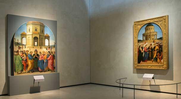 Lo Sposalizio della Vergine, Brera foto allestimento