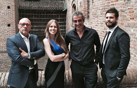 Bruno Santori, Silvia Aprile, Stefano Bertoli, Fabio Crespiatico