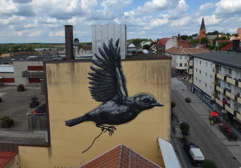 Roa, Nässjö, Svezia 2014 - START - Street Art Fest