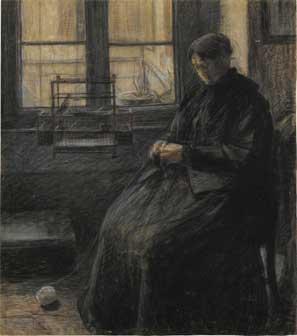 Umberto Boccioni, La signora Sacchi, 1907, Milano, Civico Gabinetto Disegni del Castello Sforzesco
