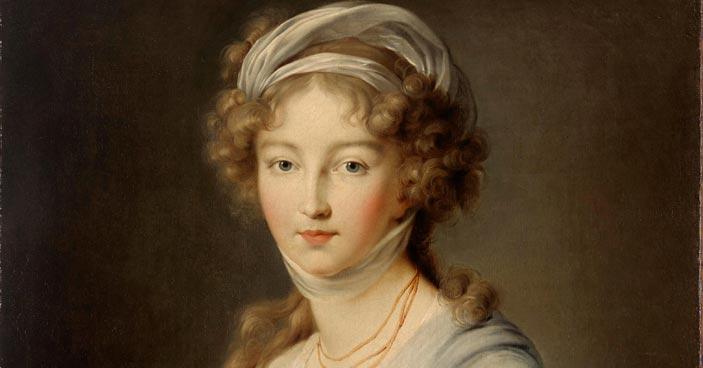 Marie-Louise-Élisabeth Vigée-Lebrun, Ritratto della granduchessa Elizaveta Alekseevna, particolare, 1798, Olio su tela, 80 x 65,5 cm, San Pietroburgo, Museo Statale Ermitage