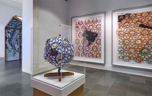 Allestimento della mostra Pietro Ruffo alla Fondazione Puglisi Cosentino. Phocredit G. D'Aguanno