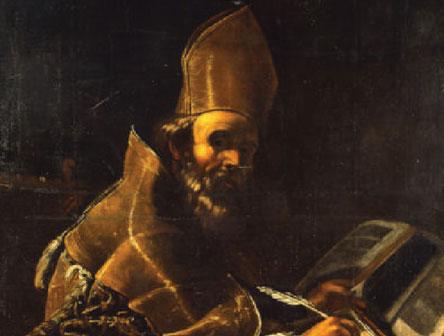 Mattia Preti, Sant'Agostino, particolare, Palazzo Arnone, Cosenza