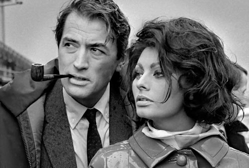 Arabesque con Gregory Peck e Sofhia Loren