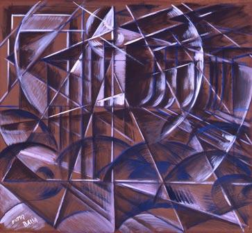 Giacomo Balla, Velocità di automobile + luci, 1913