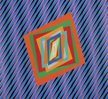Ferruccio Gard, Optical emotions in colours 80, 2012, acrylic colours on canvas, 80 x 80 x 3,5 cm - Mostra Museo Tattile Omero di Ancona