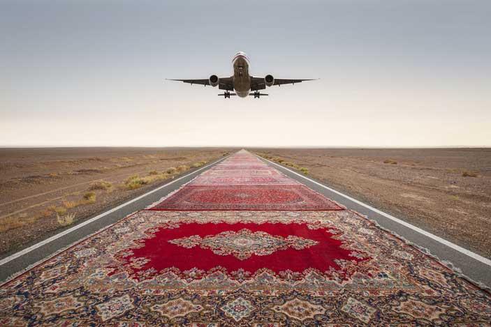 Jalal Sepehr, Red Zone #1, 2015, Archival digital pigment print, cm 70 x 100, Edizione: 4/7, Courtesy: Jalal Sepehr & Officine dell'Immagine - MIA Photo Fair