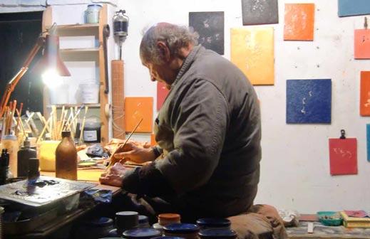 Luigi Boille nel suo studio