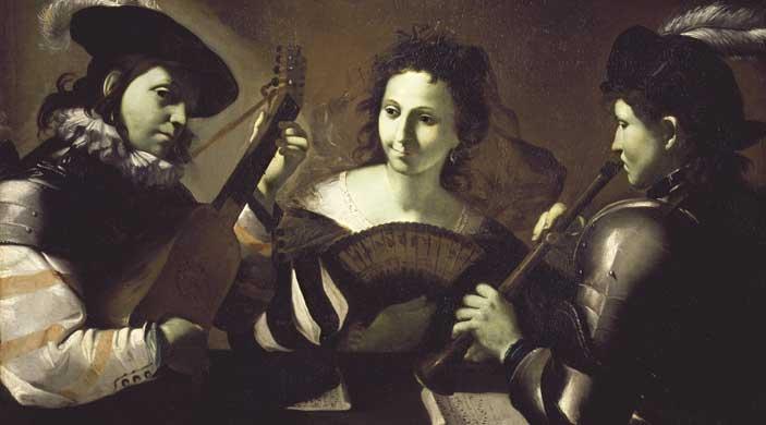 Mattia Preti, Concerto a tre figure, 1630 circa, Olio su tela, Fondazione di Studi di Storia dell'Arte Roberto Longhi, Firenze