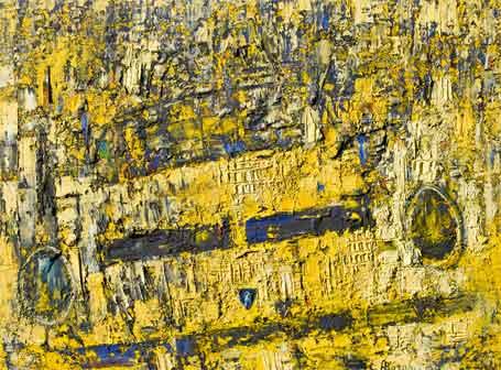 Alfonso Borghi, Miura, 200x150 cm, olio e tecnica mista su tela