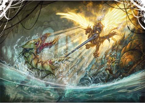 Un'immagine disegnata da Dany Orizio ispirata all'Orlando Furioso di Ludovico Ariosto
