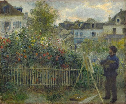 Pierre Auguste Renoir, Claude Monet Painting in His Garden at Argenteuil, 1873 - Film Da Monet a Matisse