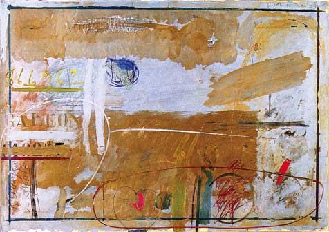 Giosetta Fioroni, Galeon, 1959, matita, pastelli e smalti su carta intelata, 70 x 100 cm