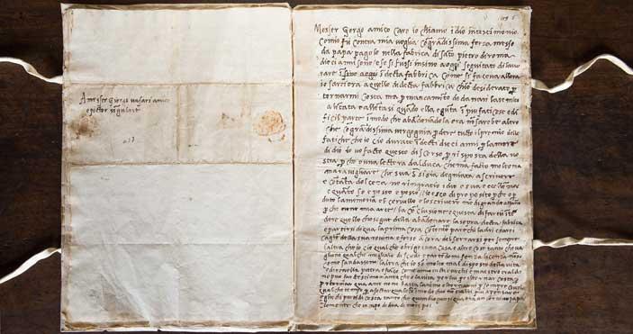 Lettera di Michelangelo a Vasari - Archivio Vasari