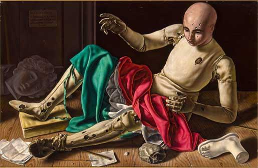 Xavier Bueno, Il Manichino, 1948, olio su tavola telata, cm 63×95, Firenze, collezione eredi Antonio Bueno