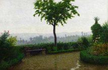 Angelo Morbelli (Alessandria 1853 – Milano 1919), Tempo di pioggia, 1916, olio su tela. Provenienza: legato 1929, Teresa Cella vedova Chiaruttini