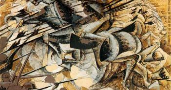 Umberto Boccioni, Carica di lancieri - La grande guerra