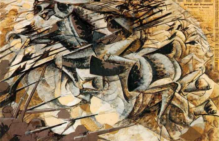 Umberto Boccioni, Carica di lancieri, 1915 - La Grande Guerra