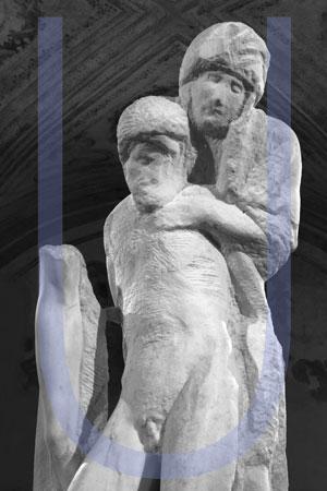 Mario Cresci - In aliam figuram mutare - Interazioni con la Pietà Rondanini di Michelangelo